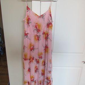 SOLD J. Crew Mercantile Pink Maxi Dress